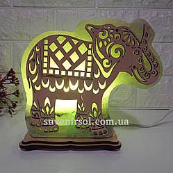 Соляна лампа Слон великий
