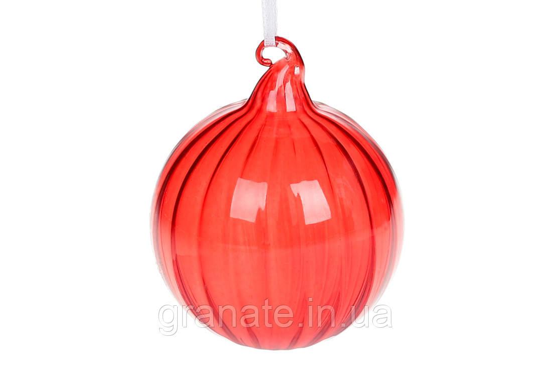 Елочный шар из прозрачного стекла 8см, 6шт