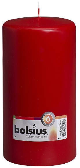 Свеча цилиндр Bolsius красная 20 см (100/200-030Б)