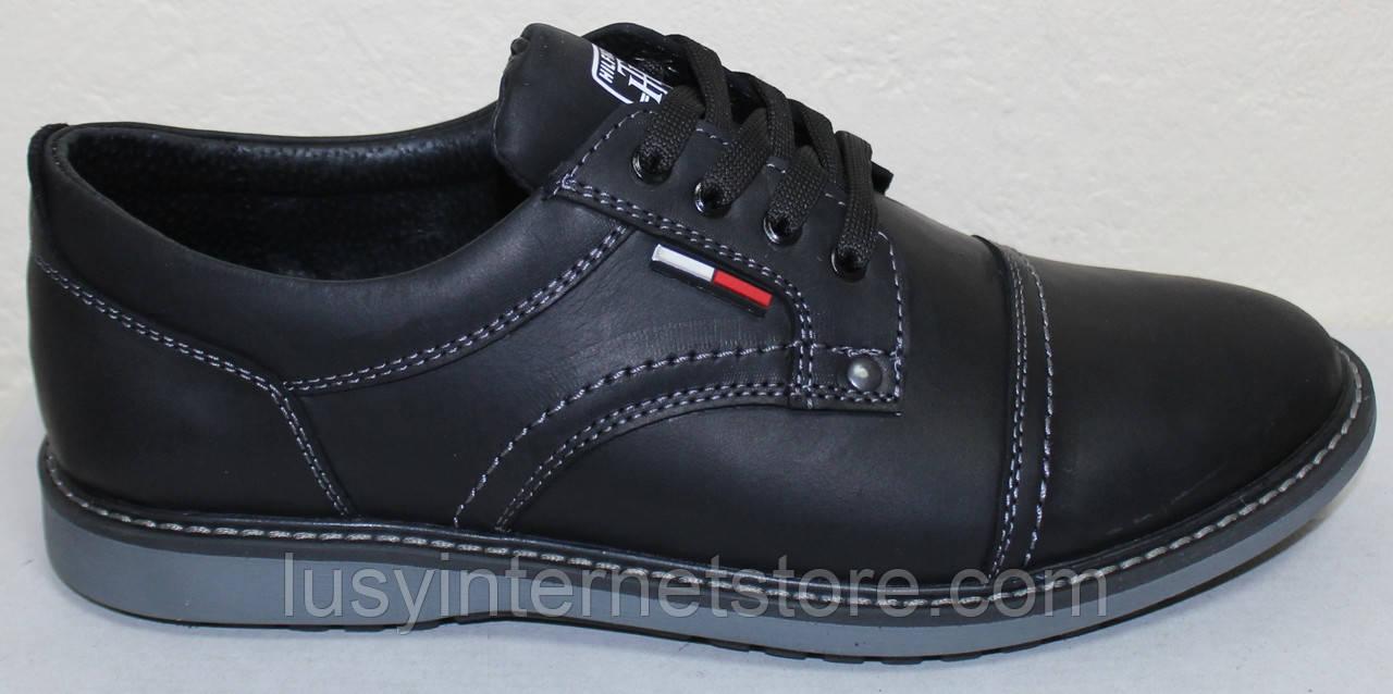 Туфли на шнурках мужские кожаные от производителя модель ИШ110-1