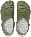 Мужские кроксы Crocs LiteRide™ Clog хаки 42 р., фото 4