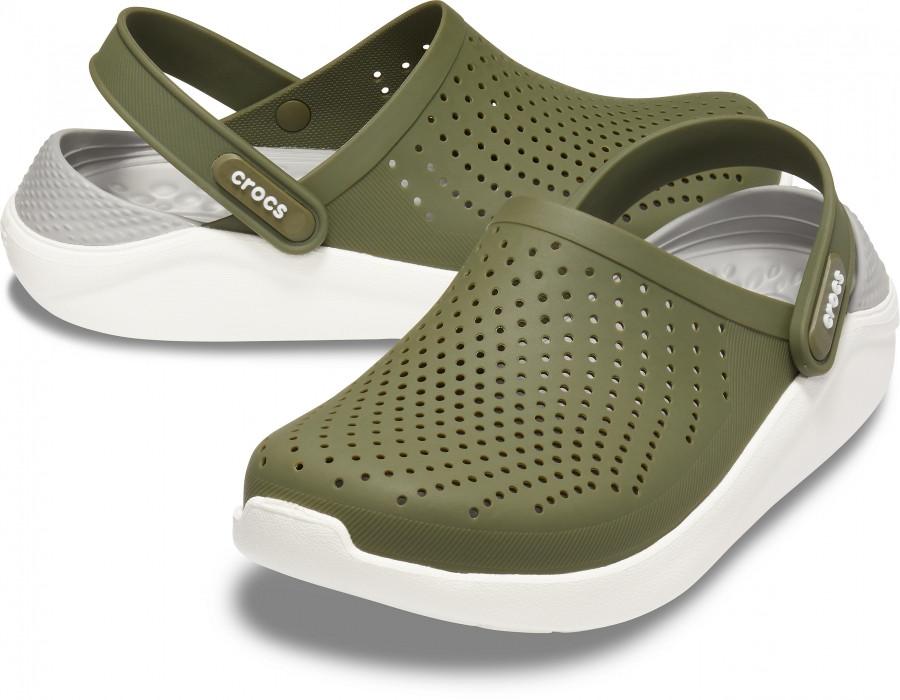 Мужские кроксы Crocs LiteRide™ Clog хаки 44 р.