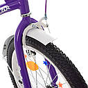Велосипед детский PROF1 20д. XD2093 Star, фиолетовый, фото 4