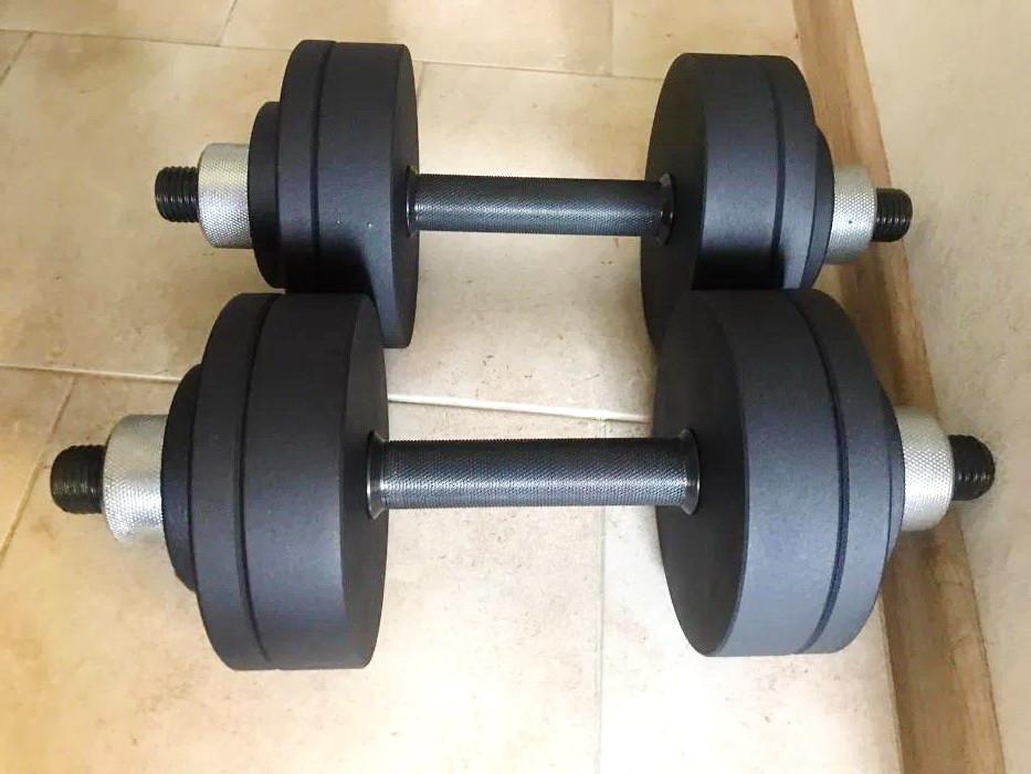 Гантелі 2 по 20 кг з покриттям (30 мм). Розбірні металеві