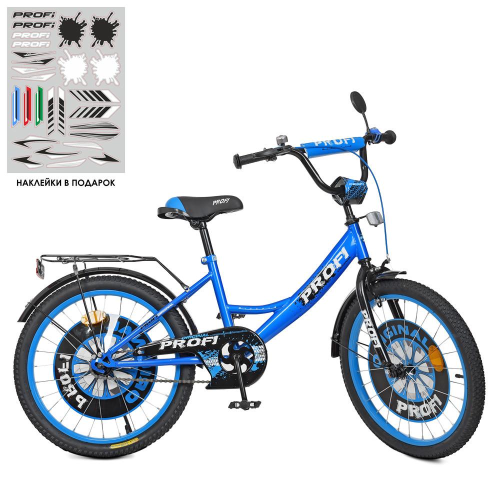 Велосипед детский PROF1 20д. XD2044 Original boy,сине-черный
