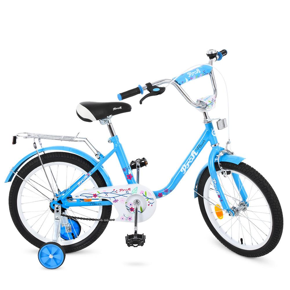 Велосипед детский PROF1 18д. L1884 Flower, голубой