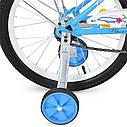 Велосипед детский PROF1 18д. L1884 Flower, голубой, фото 4