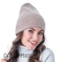 Вязанная женская шапка Фан Кэпс