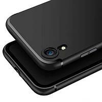Тонкий матовый чехол для iPhone Xr черный силиконовый