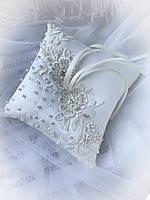 Свадебная подушечка для обручальных колец, фото 1