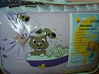 """Детское постельное белье """"Веселые собачки"""", сирень,  9 предметов!, фото 1"""