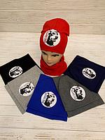 Комплект детский, для мальчиков (варианты расцветок,  двойной трикотаж, 54 55 рр)