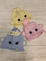 Шапка для новорожденных (варианты расцветок, двойной трикотаж), фото 1