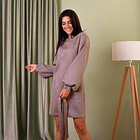 Стильне жіноче замшеве плаття Розміри 44, 46, 48, 50, 52, фото 1