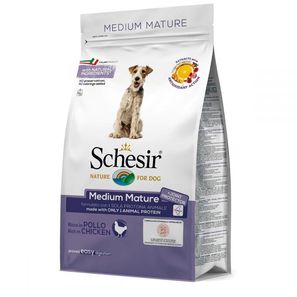 Schesir (Шезир) Dog Medium Mature Chicken сухой корм для пожилых собак средних пород