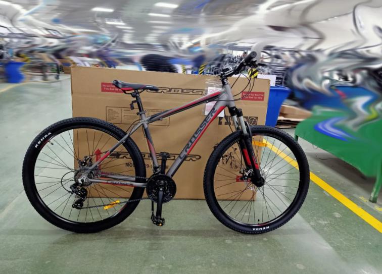 Двоколісний гірський спортивний велосипед 26 дюймів Crosser Grim сірий