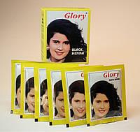 Індійська хна Глорі для волосся та брів GLORY (Black) зафарбовує сивину, фото 1