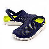 Кроксы женские Crocs LiteRide™ Clog синие 40-41 р., фото 4