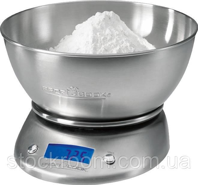 Весы кухонные с металлической чашей Profi Cook