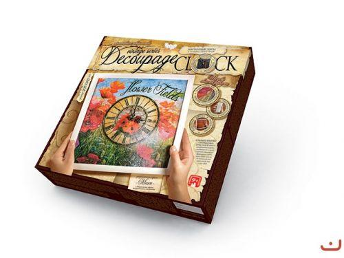 "Комплект креативного творчества ""Decoupage Clock"", с рамкой  sco"