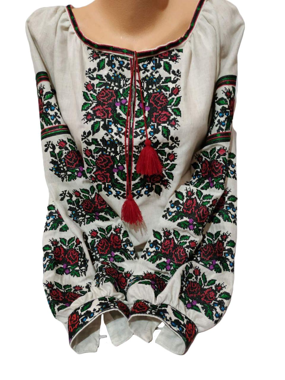 "Женская вышитая рубашка ""Лаурен"" BM-0007"