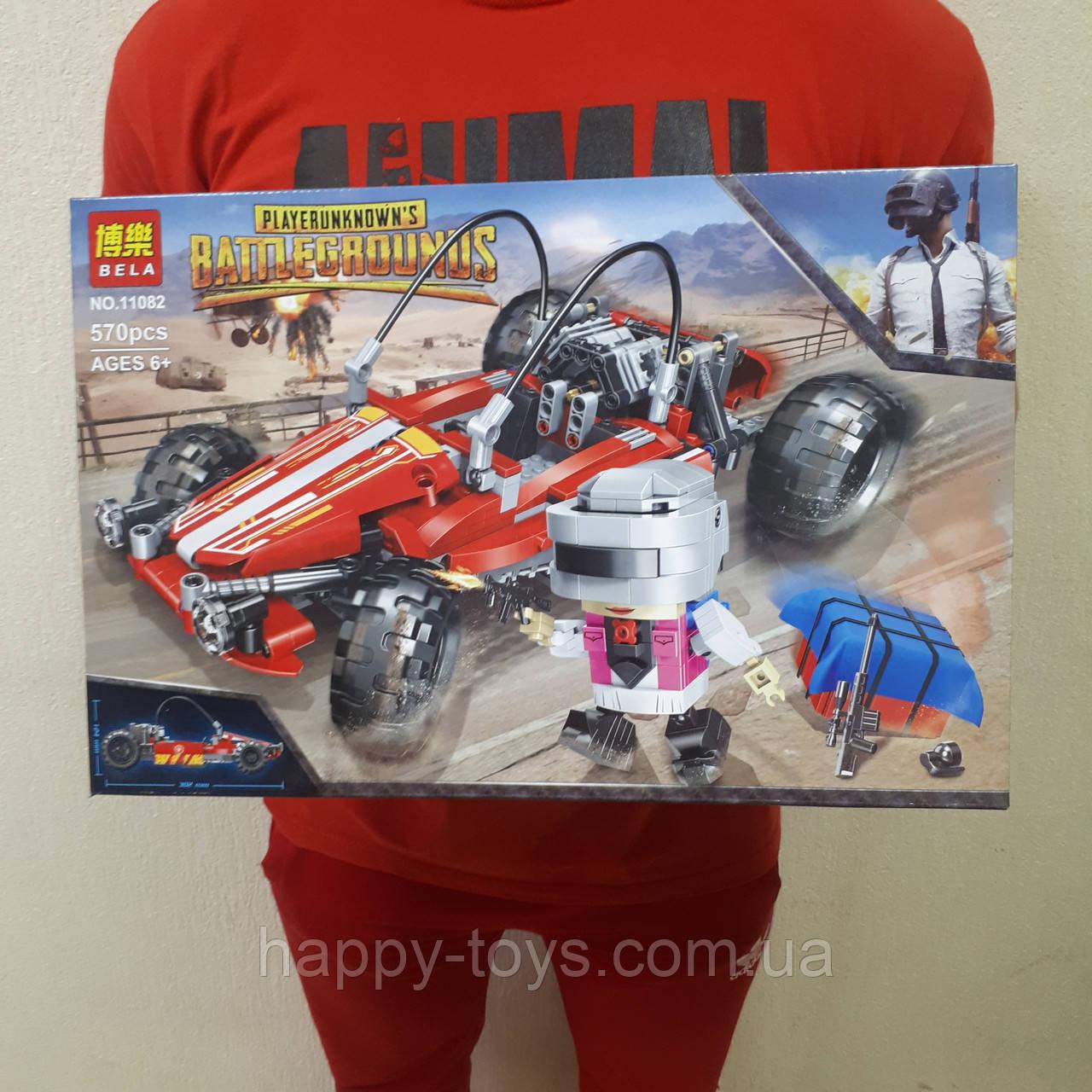 Конструктор Bela 11082 Багги машинка 570 деталей Battlegrounds
