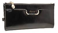 Привлекательный женский кошелек 1028 Black на кнопке, фото 1