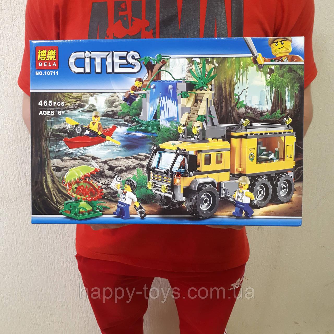 Конструктор Сити Исследователи джунглей 465 деталей, аналог Лего, Bela 10711