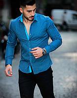 Рубашка мужская кашемировая с длинным рукавом Rubaska  Турция, фото 1