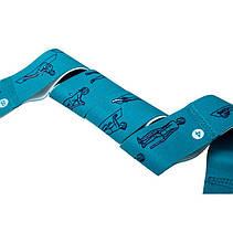 Еспандер стрічка з петлями (для розтяжки) еластична гумова стрічка еспандер з цифрами 8 петель [синій], фото 3