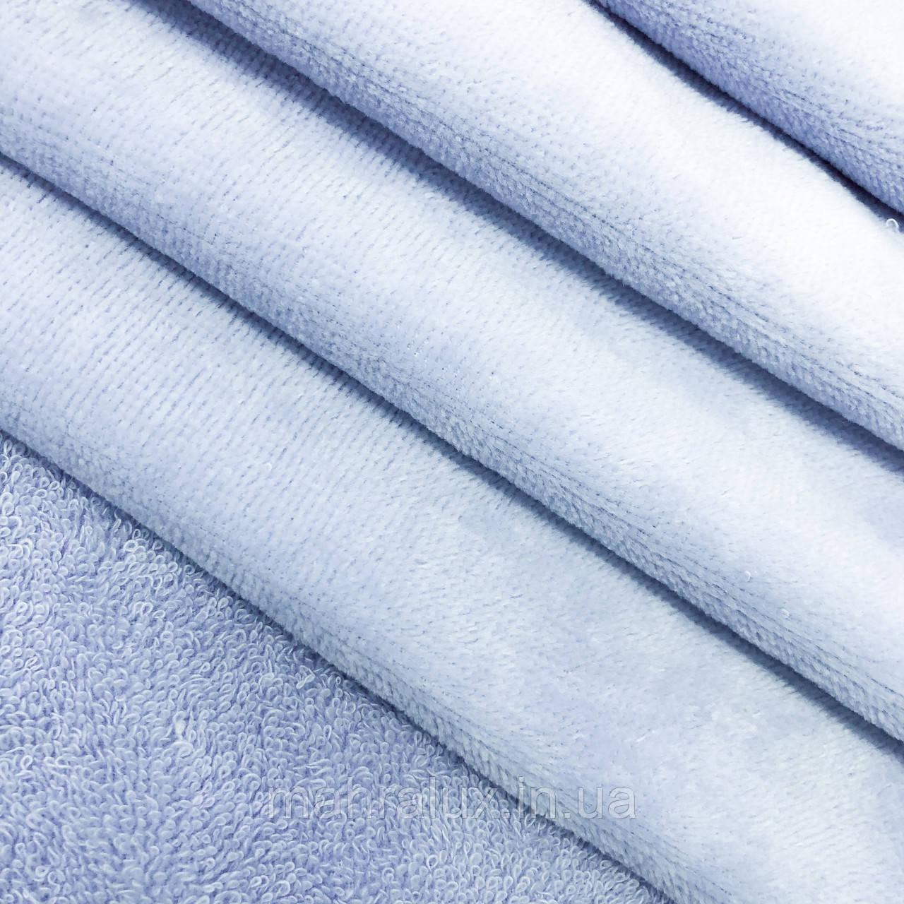 Махра-велюр бледно-голубая Турция