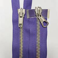 Длинная 5 металлическая молния MRS (Italy) 100 см, разные цвета Фиолетовый