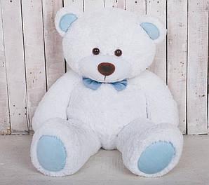 Ведмедик плюшевий Yarokuz Джон 110 см Білий з блакитним (YK0102-john110-wh-bl)