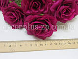"""Букетик 28см,  """"Роза садовая"""",  (7 веток), темная фуксия, фото 3"""