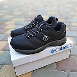🔥 Мужские зимние кроссовки Columbia Firecamp Чёрный с белым текстиль/нейлон термо, фото 3