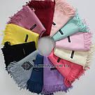 Кашемировый однотонный коралловый шарф палантин Cashmere 104003, фото 2