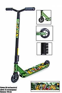 Трюковый самокат Scale Sports Leone 110 mm Зеленый (1586629261)