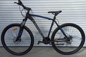 Двухколесный спортивный велосипед 29 дюймов 22 рама Crosser Inspiron черно-синий