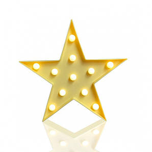 Декоративный Led светильник ночник Звездочка KS Funny Lamp Star SKL25-145851