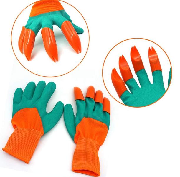 Садовые перчатки грабли с когтями Garden Gloves 2 в 1