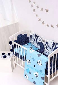 Детский постельный набор Бэйби - блу сатин и бязь SKL20-240447