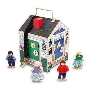 Багатоповерховий дерев'яний ляльковий будиночок Melіssa&Doug (MD4570) 17.3 х 17.3 х 22.9 см, 353