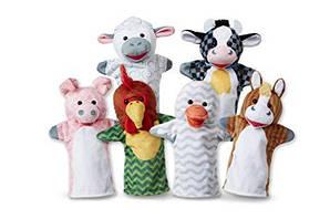 """Великий ляльковий театр """"Домашні тварини"""", 6 штук Melіssa&Doug (MD9119) 2 роки, 3 роки, 4 роки, 5 років, 6 років, 7 років, 8 років, 36.5 см х 24.5 см х 4.5 см, 355"""