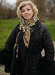 Печатный пряник 356-18, павлопосадский платок (шаль) из уплотненной шерсти с шелковой вязанной бахромой, фото 6