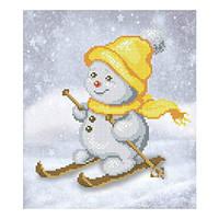 """""""Снеговик"""" схема под бисер"""