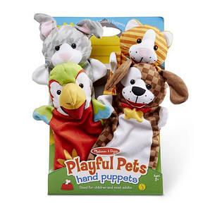 """Великий ляльковий театр """"Домашні тварини"""", 6 штук Melіssa&Doug (MD9119) 2 роки, 3 роки, 4 роки, 5 років, 6 років, 7 років, 8 років, 36.5 см х 24.5 см х 4.5 см, 358"""