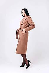 Модне жіноче шерстяне пальто-халат