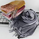 """Кашемировый теплый шарф палантин в клетку """"Лана"""" Cashmere 107016-4, фото 3"""