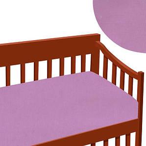 Простынь на резинке ТМ Алекс, ранфорс, розовая SKL11-181583