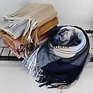 """Кашемировый теплый шарф палантин в клетку """"Лана"""" Cashmere 107016-10, фото 3"""